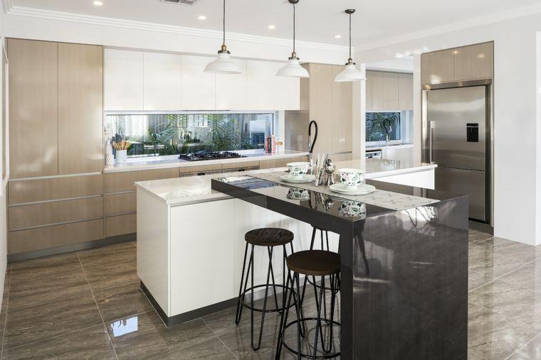 muebles de color beige en la cocina contemporánea | Interiores para ...