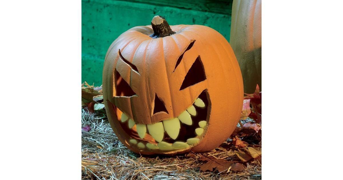 Glow in the Dark Shark Pumpkin Teeth Fall and Halloween Crafts and