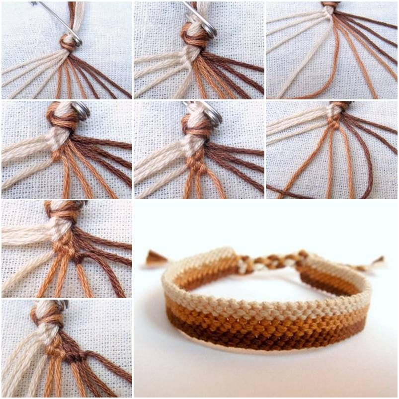 how to make easy weave bracelet step by step diy tutorial