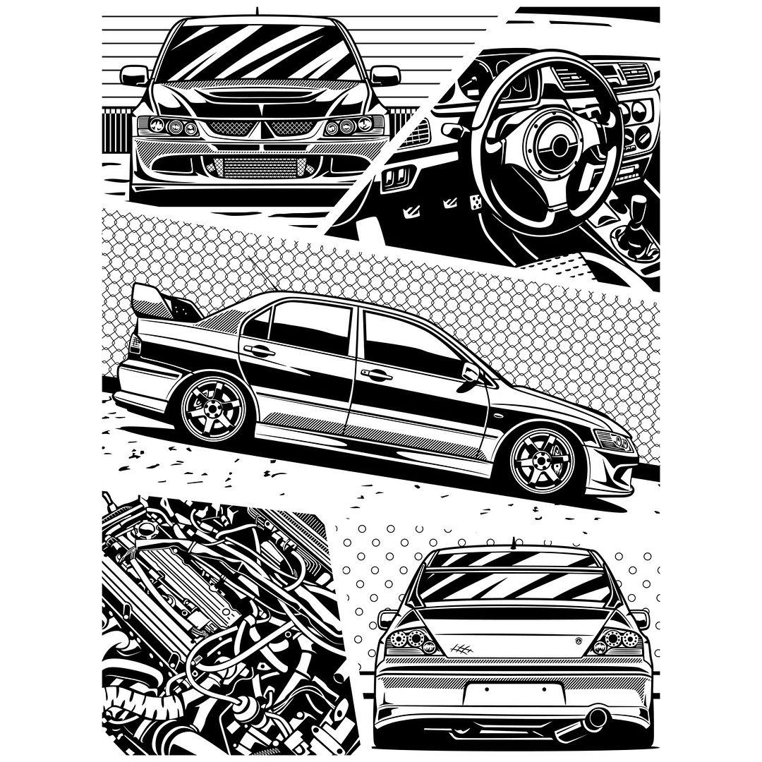 "Oleg Markaryan on Instagram ""Mitsubishi Lancer Evolution"