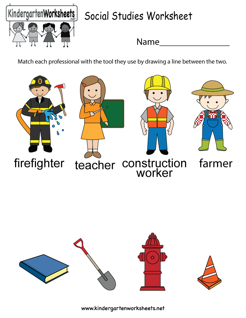 This social studies worksheet allows kids to figure out the tools ...