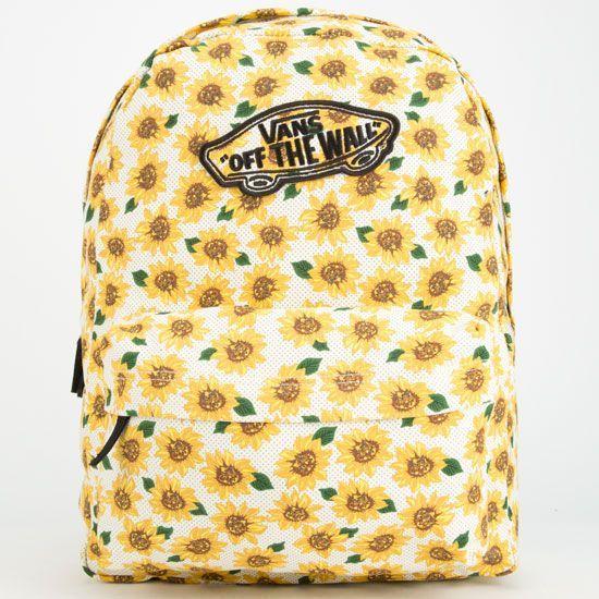 Realm Sunflower Backpack | Vans rucksack, Tumblr rucksack