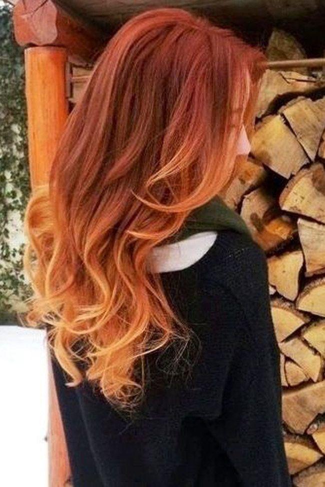 Haarfarbe rot zu blond