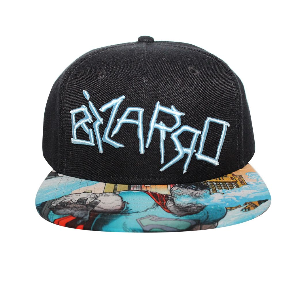 dc0369ec62bfd Get this Bizarro - Forever Evil Sublimated Brim Snapback Hat from Bioworld.  Go get it