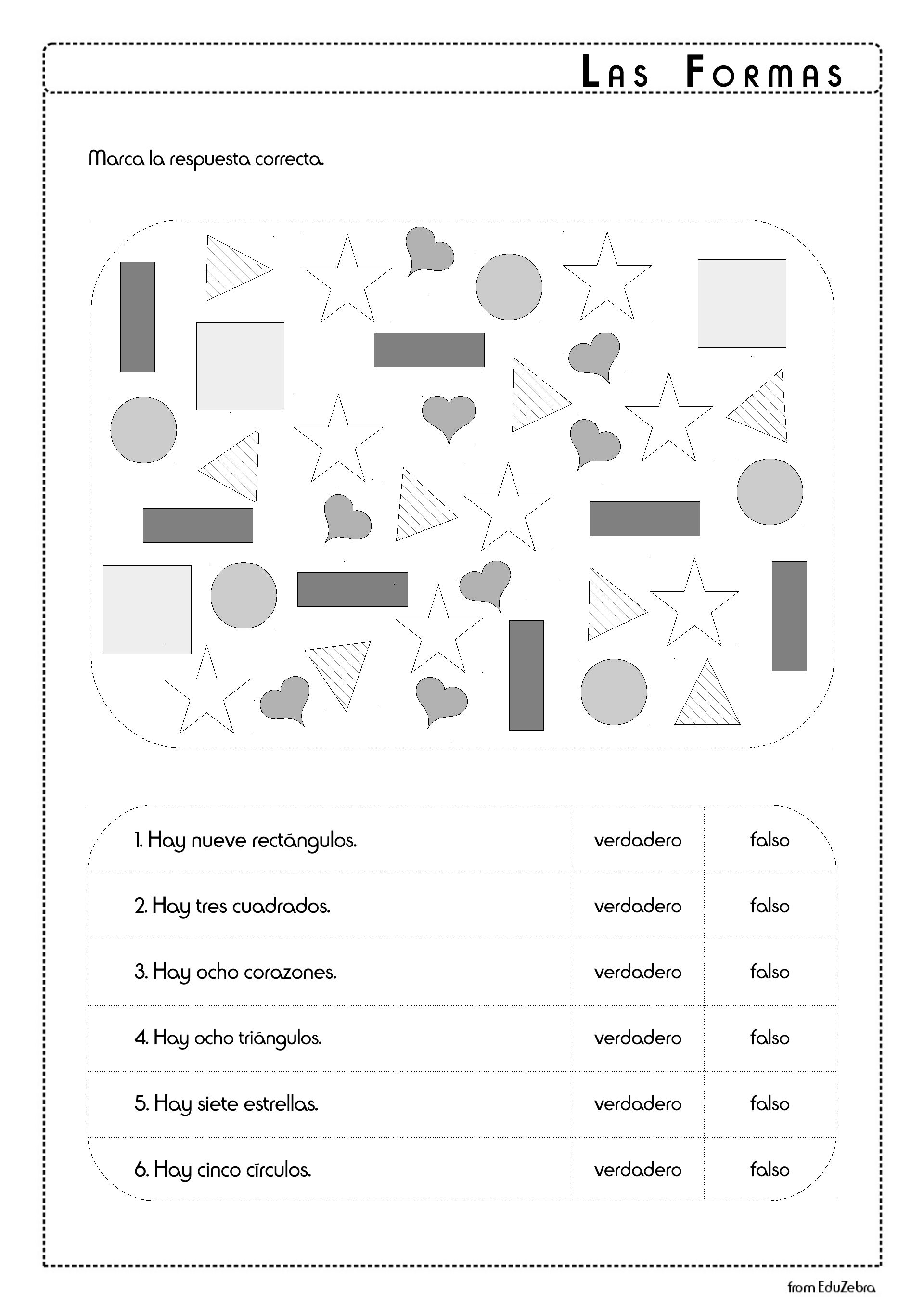 Las Formas Espanol Ninos Actividades Shapes In Spanish For Kids Worksheet Shapes In Spanish Activity Pack Shapes Activities