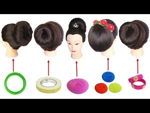 5 Easy Juda Hairstyle With Trick Hairstyle Simple Hairstyle Hair Style Girl Hair Bun Youtube Easy Hairstyles Hair Styles Bun Hairstyles