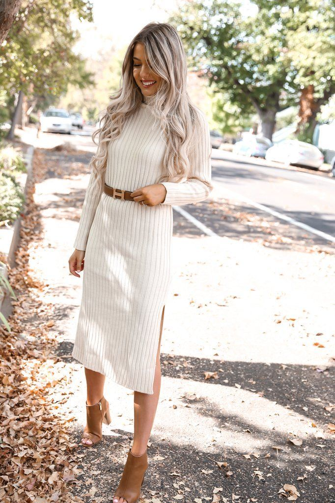 Sweater Dress Outfit Ideas 6