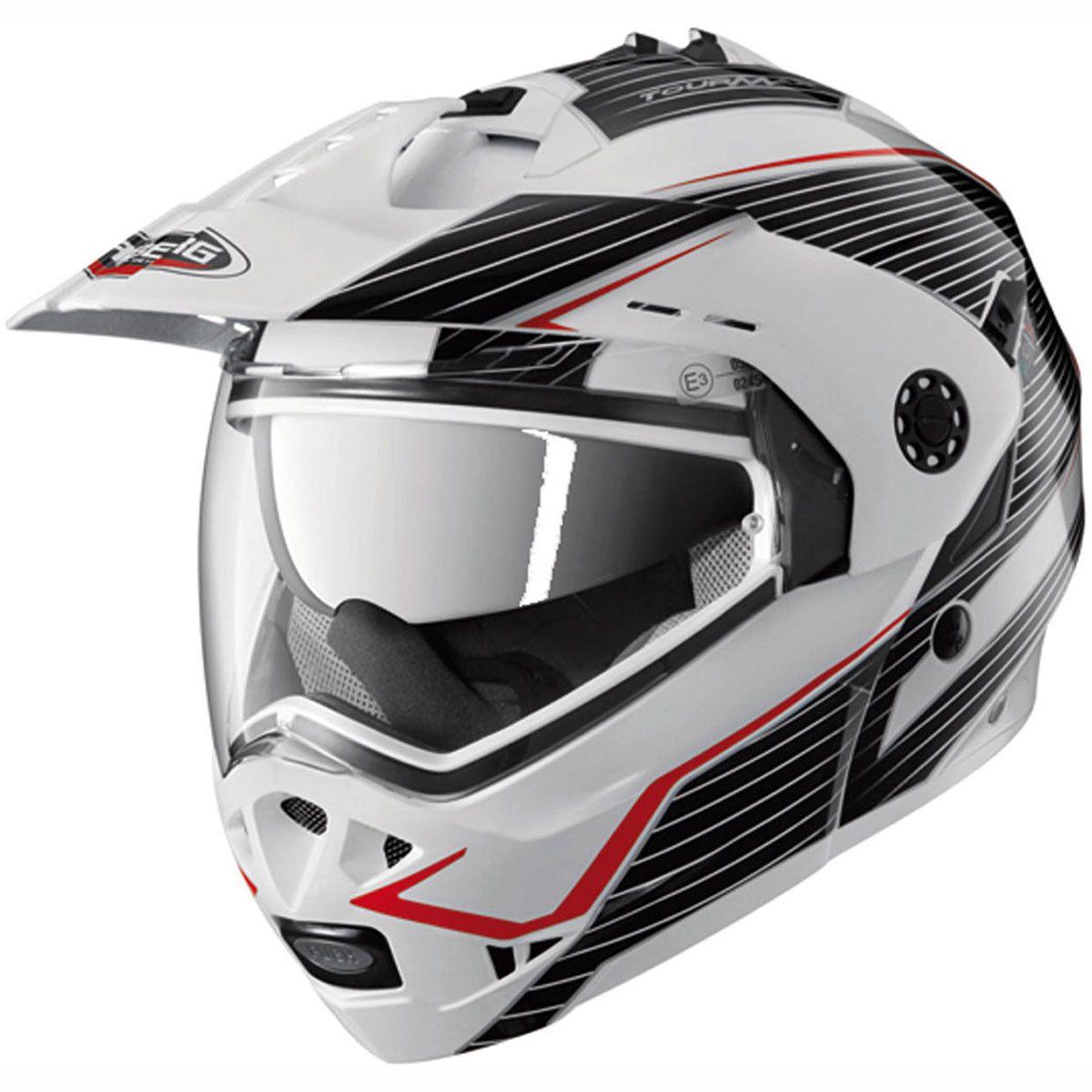 Caberg Tourmax Helmet in Black/Red Adventure touring