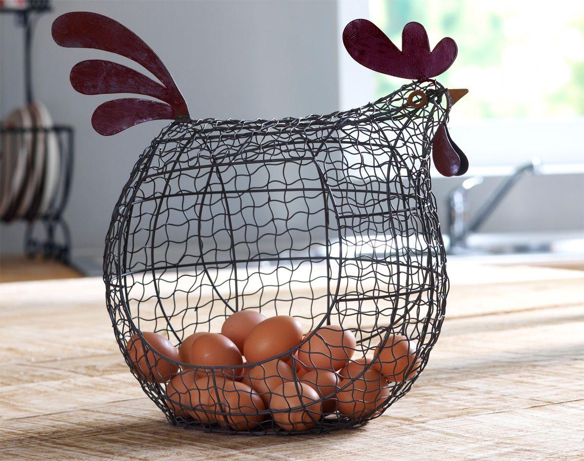 Panier poule becquet tout pour les poulettes - Poule decorative pour cuisine ...