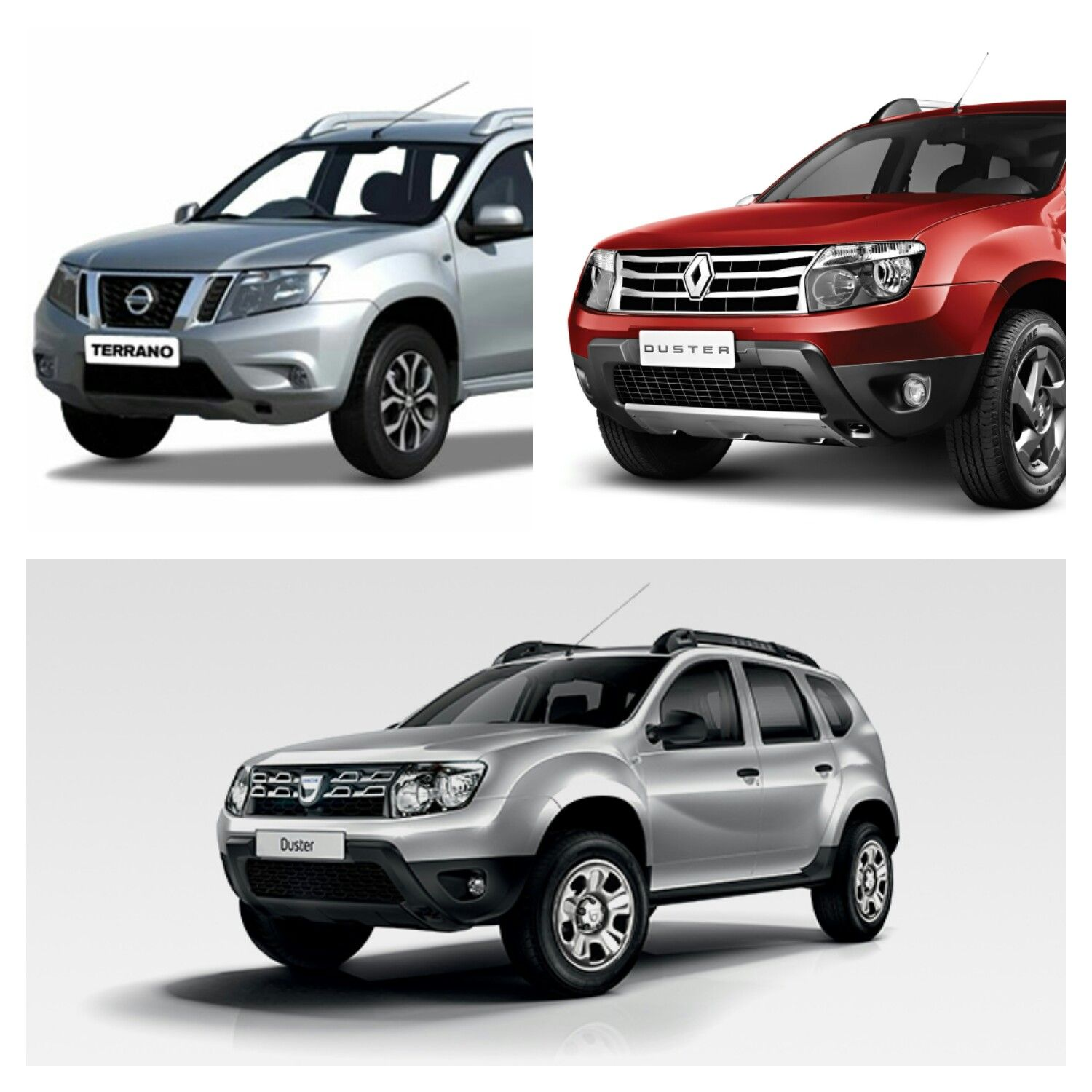 nissan terrano top left dacia duster bottom renault duster top right automotive. Black Bedroom Furniture Sets. Home Design Ideas