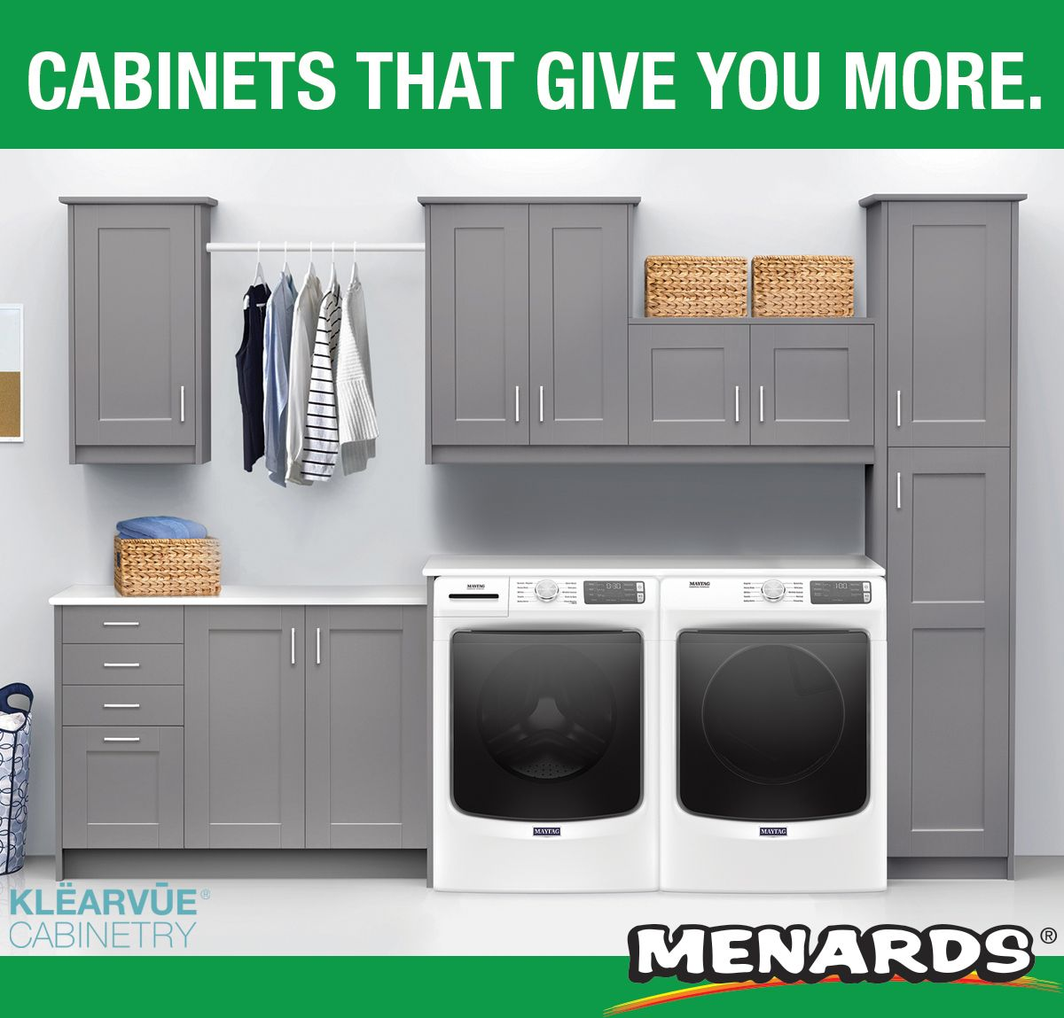 Klearvue Cabinetry Stromma Gray 9 1 2 Laundry Room Cabinets