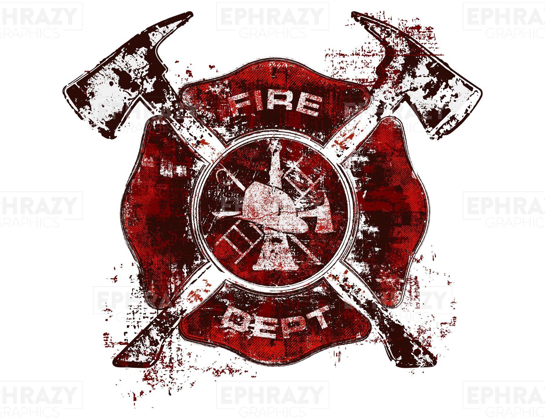 Firefighter Maltese Cross Grunge Svg Firefighter Maltese Cross