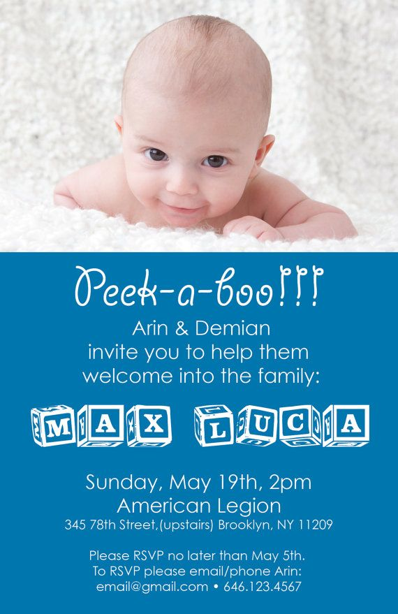 Baby Welcome Party Invitation File DIY Printing by ...
