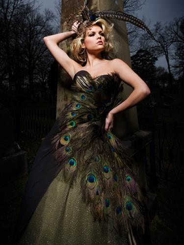Peacock Feather Design Dress | www.pixshark.com - Images ...