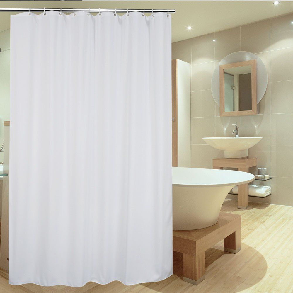 36 Inch Shower Liner Ufriday Solid White Fabric Shower Curtain