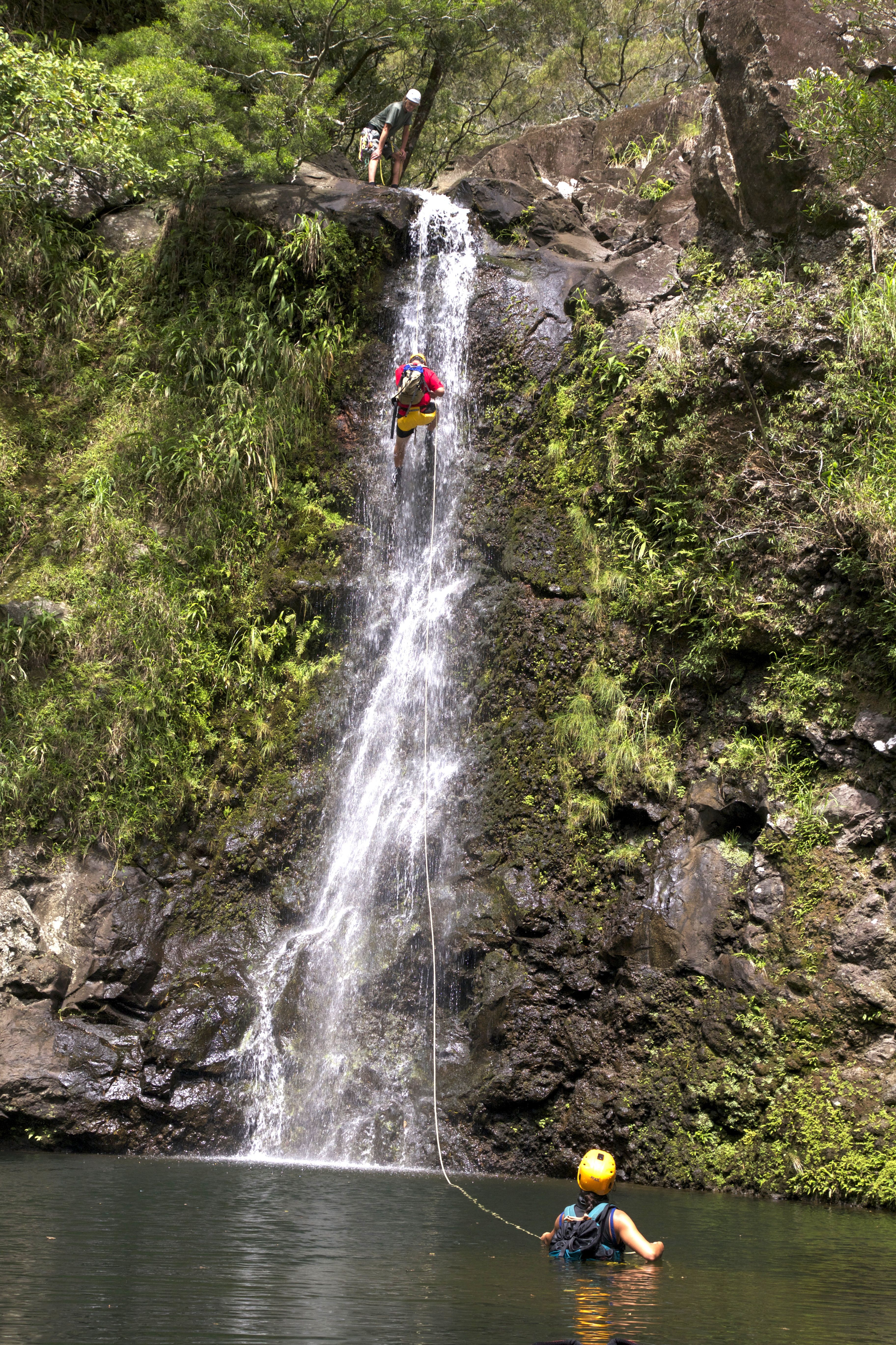 one of the most exciting adventures on maui! climbing down a