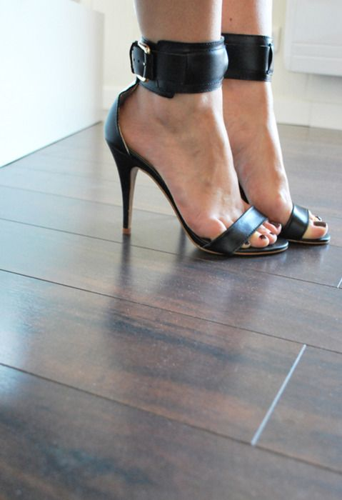 mango heels with ankle straps.