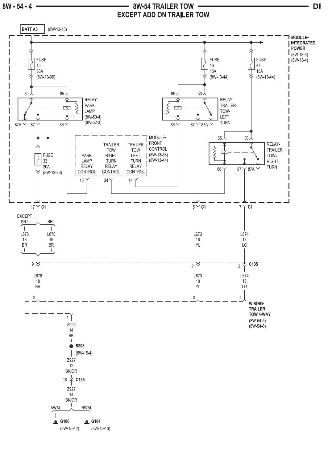 Dodge Ram Trailer Light Wiring Diagram