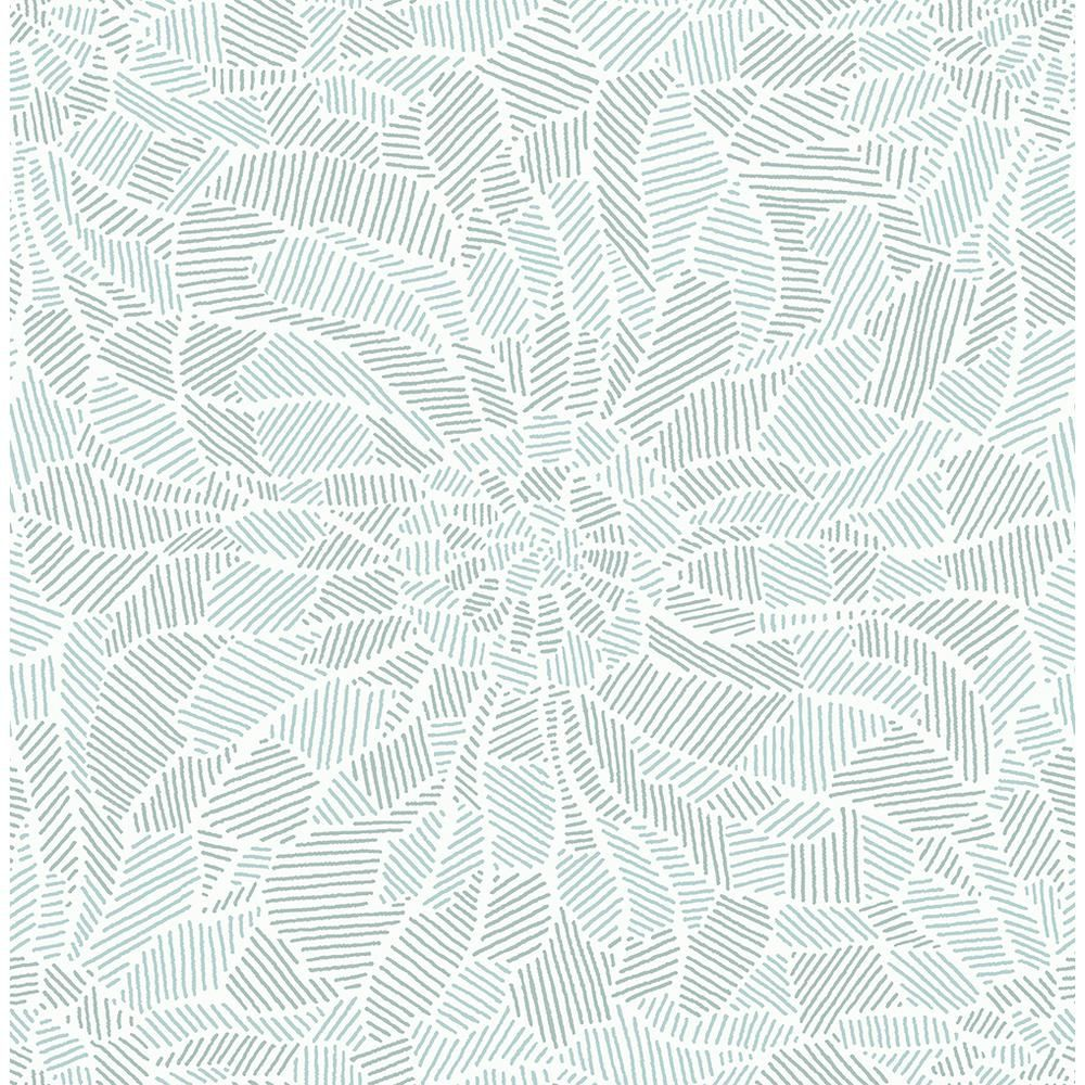 A Street 8 In X 10 In Daydream Blue Abstract Floral Wallpaper