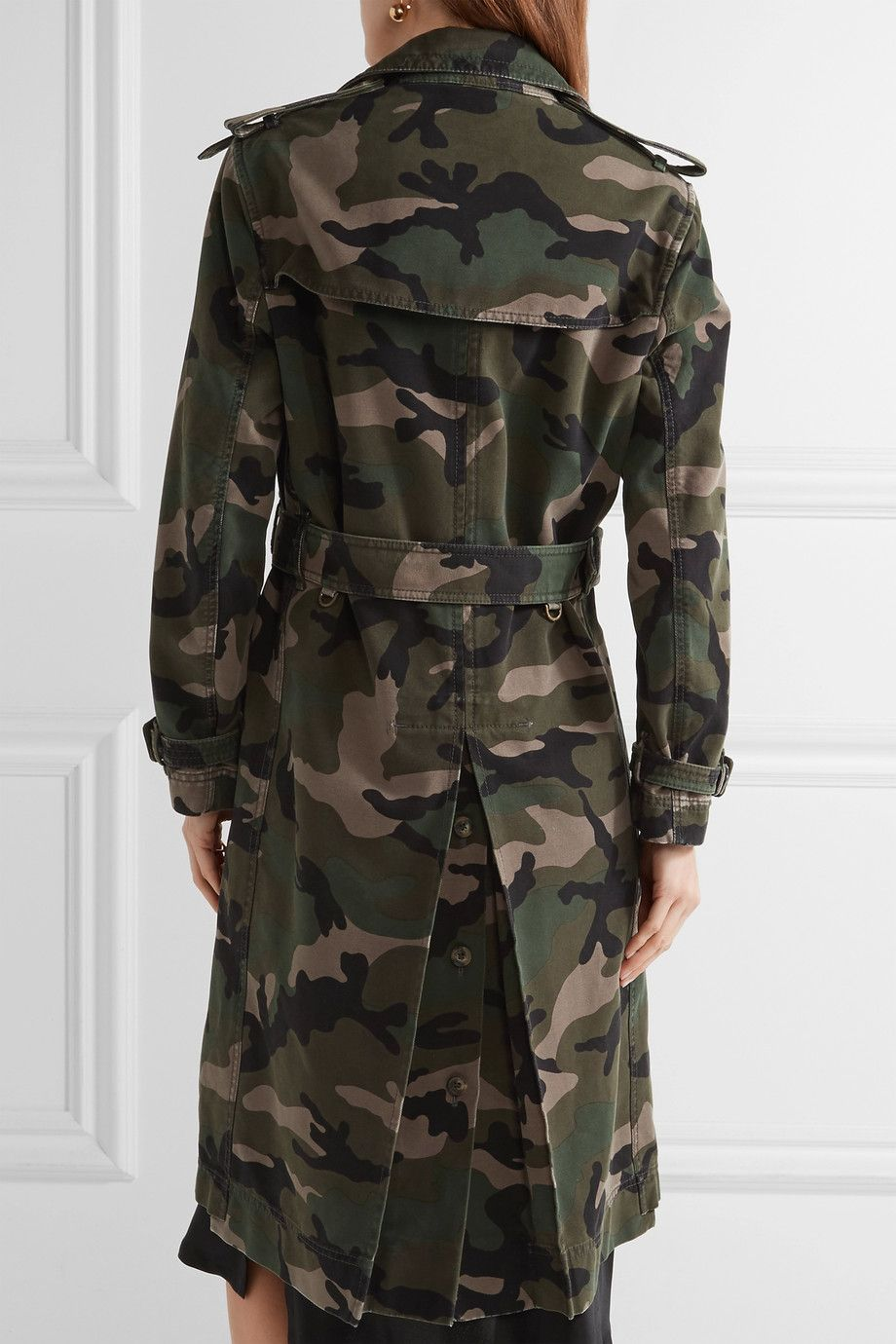 6b20c85ab3904 Valentino | Embellished camouflage-print cotton-canvas trench coat |  NET-A-PORTER.COM