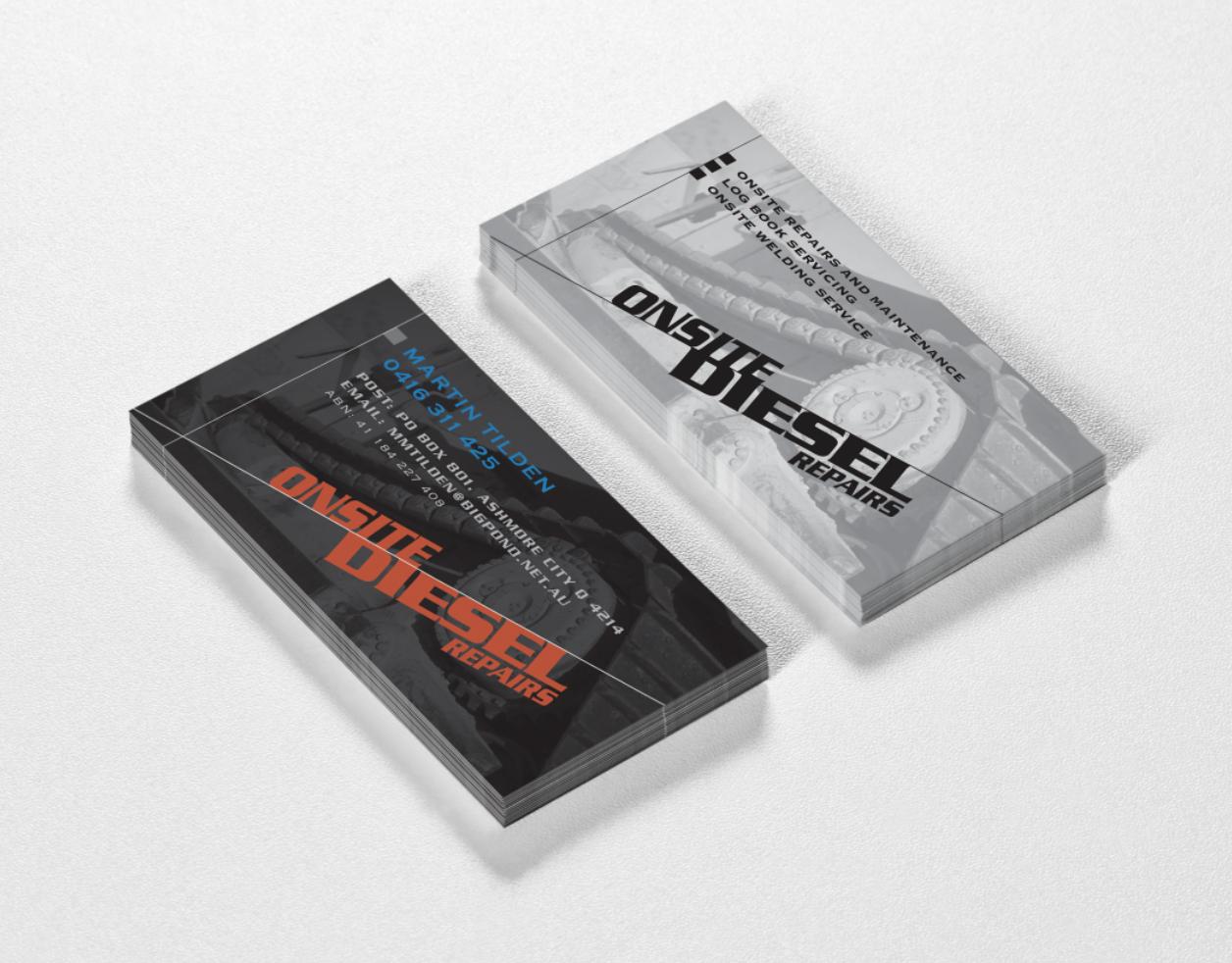 Onsite Diesel Repairs mobile mechanic logo and business card ...
