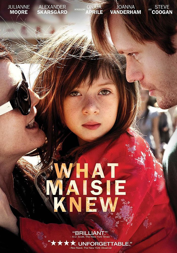 What Maise Knew. I cried through the whole movie. This should be required in custody battles to watch. Kids grow up and they remember everything. I was one of those kids and I still to this day ask my parents why they did or said those things. Split families...watch this movie. Love your children. They become one of us too soon and they'll have questions. Answer wisely now...they'll remember when they find out the truth to those lies.