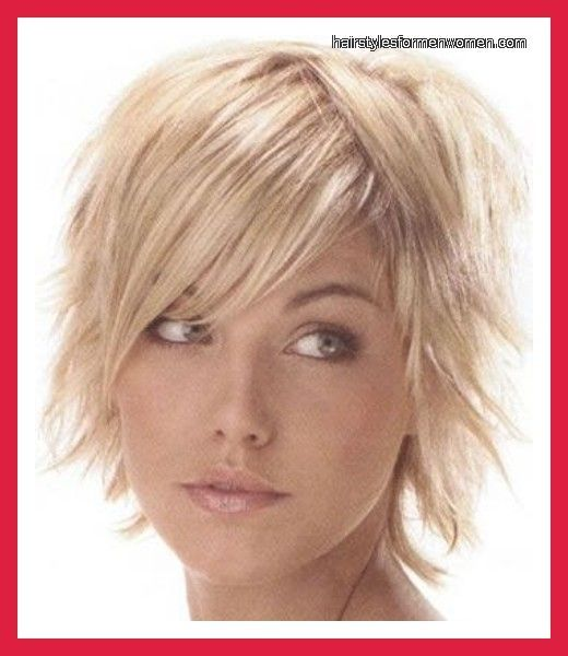 Short Hairstyles For Round Faces Double Chin And Fine Thin