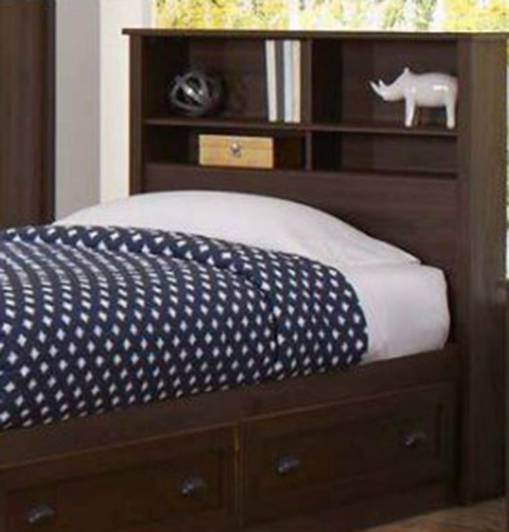 Lafayette Twin Bookcase Headboard, English Walnut Finish, From Better Homes  And Gardens At Walmart