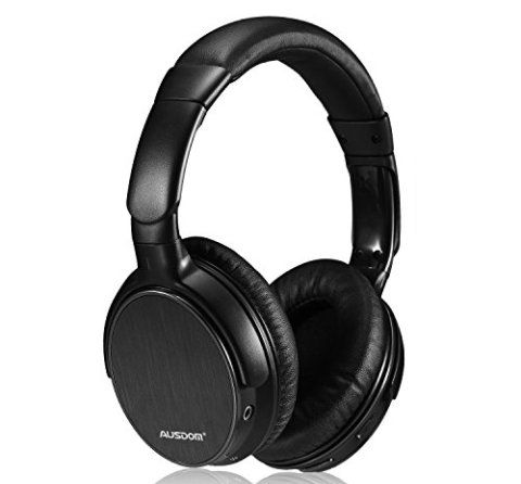 Ausdom Lightweight Stereo Wired Wireless Bluetooth 4.0 EDR Over Ear Audiophile Headphones, Deep Bass with Built-in Microphone Headset for PC Mac Smartphones Computers Men Kids Girls (Black)