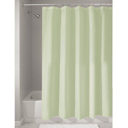 Interdesign Mildew Free Water Repellent Fabric Shower Cur