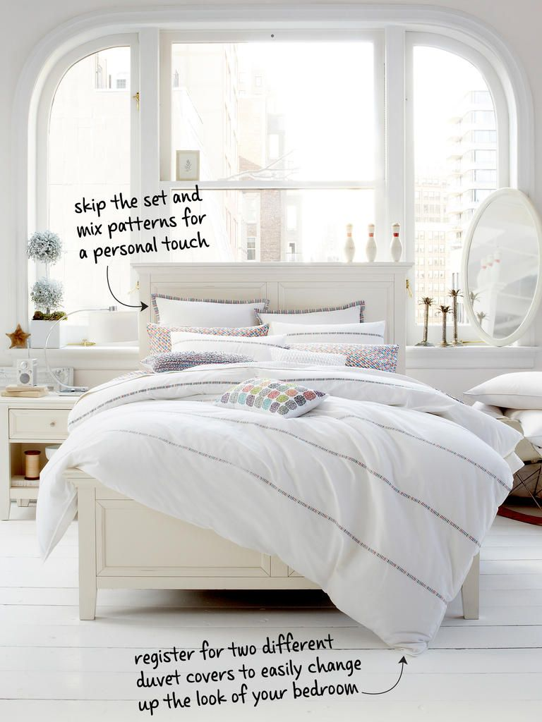 room. create a bed you'll never want to leave with these registry