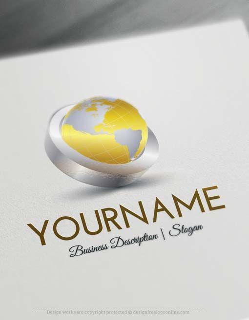 Design Free Logo Online 3d Globe Online Logo Templates