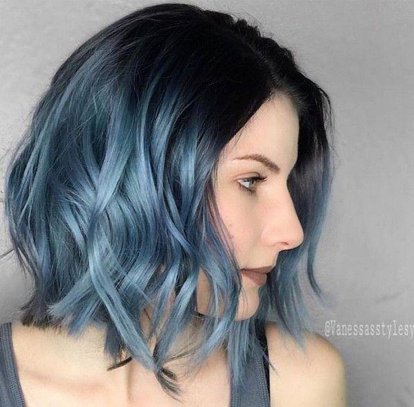 10 Hottest Lob Haircut Ideas Popular Haircuts Blue Ombre Hair Metallic Hair Hair Styles