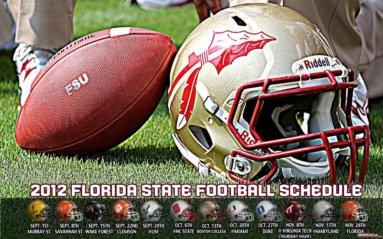 2012 Florida State Football Schedule Florida State Football Fsu Football Florida State Seminoles
