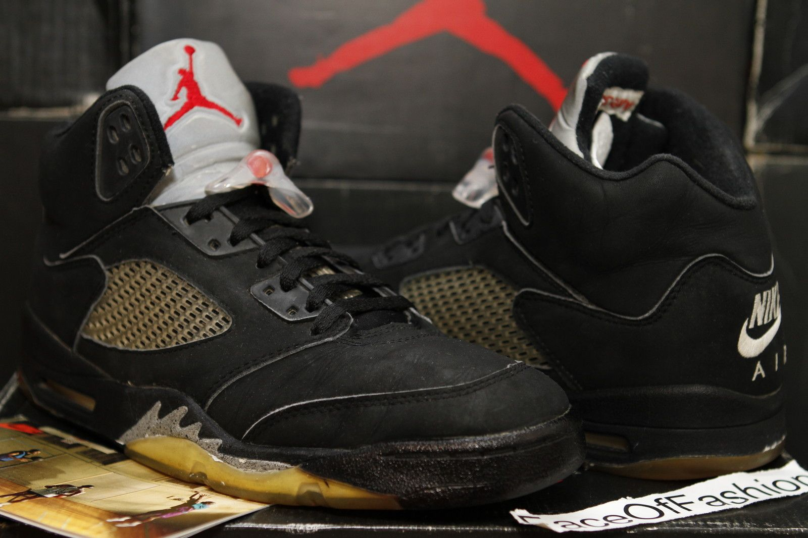 73693bb099c Details about NIKE AIR JORDAN 5 V Retro OG Black Metallic Silver SZ ...