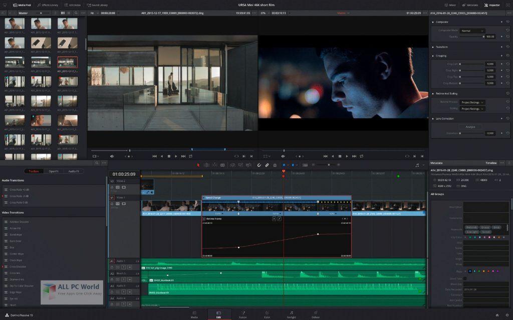 Davinci Resolve Studio 16 2 7 Telechargement Gratuit En 2020 Telecharger Gratuit Telechargement