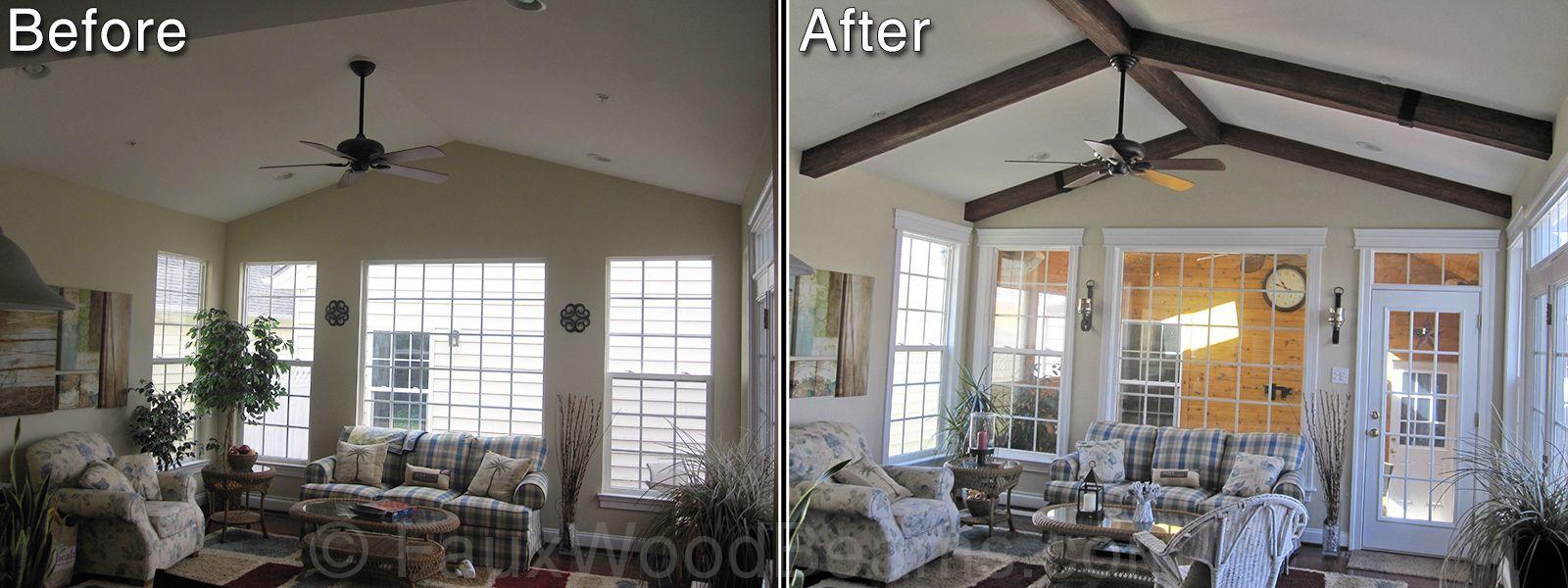 Vaulted Ceiling Home Design Ideas | Ceiling Beam Photos