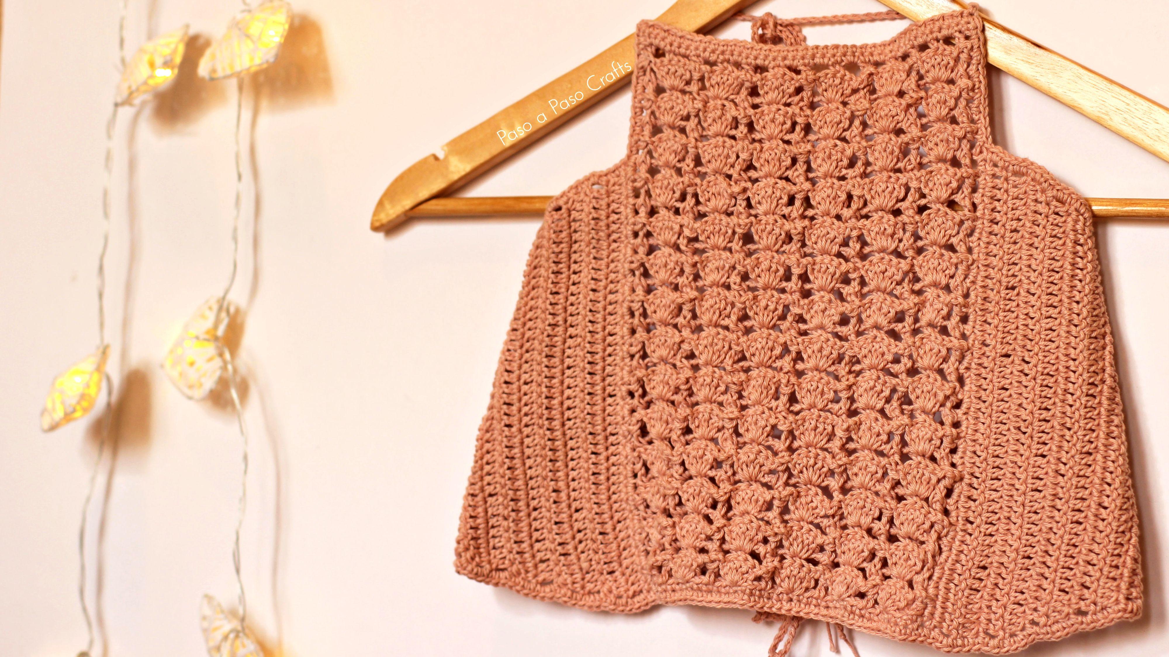 Free Crochet Pattern Tutorial! The shell Halter Top! | haken ...
