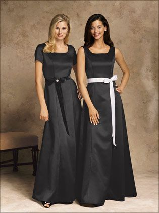e42cf6f217e2a WOMEN'S FORMAL, short sleeve; changeable sashes; available in midnight blue