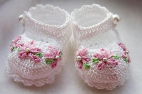 Crochet Baby Booties Patterns And Designs Crochet Pinterest