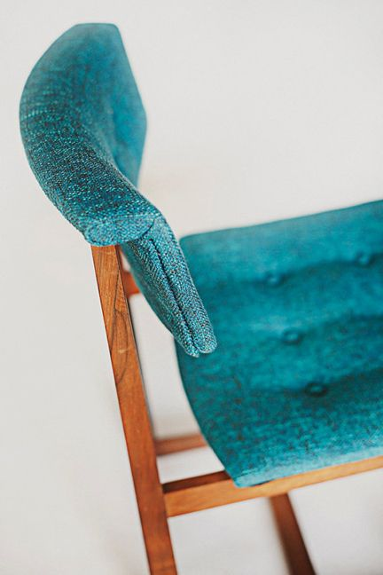 mid century fabric chairs | blue dining chairs set mid century retro tufted blue modern top view