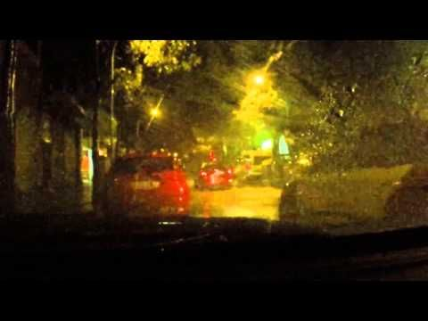 Rain Sounds For Sleeping Rain In A Car With Lightning And