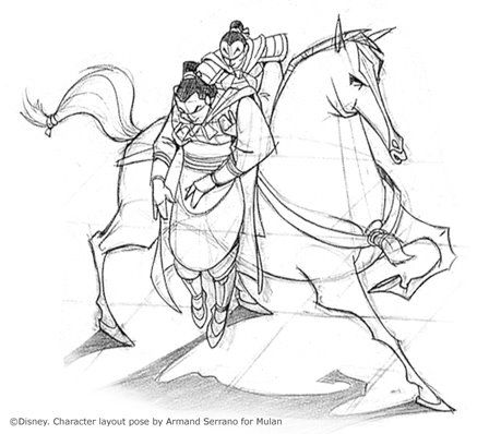 Concept art of Mulan and Shang by Armand Serrano from Disney\'s ...