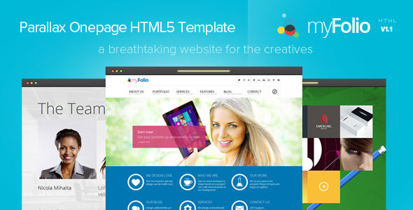 Myfolio parallax onepage html5 template web design lovers myfolio parallax onepage html5 template maxwellsz