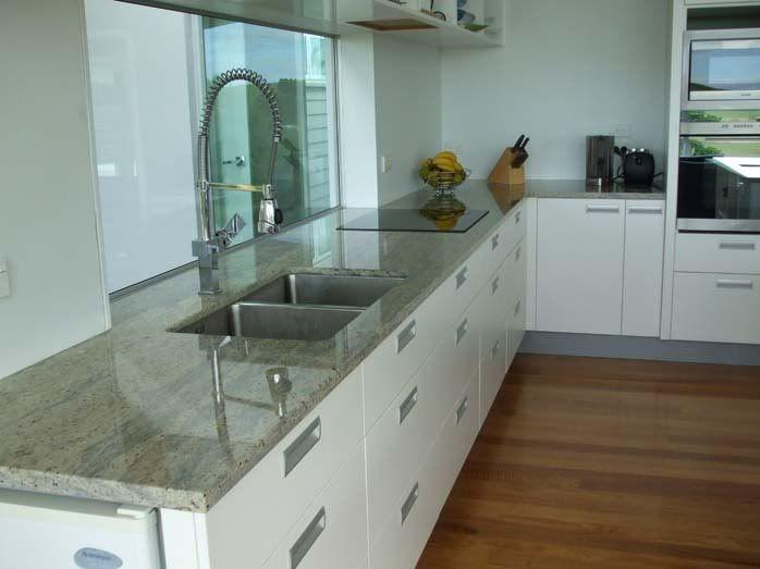 Best Grey Granite White Cabinets Light Wood Floor Off White 400 x 300