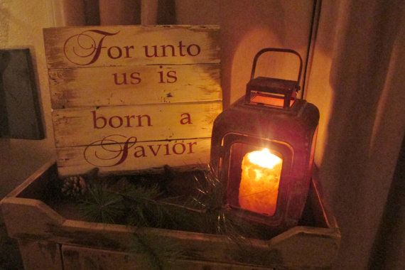 For Unto Us Is Born A Savior by salmonfallsprims on Etsy,