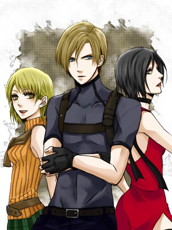 Biohazard Resident Evil 4 Leon Kennedy Ada Wong Ashley Graham