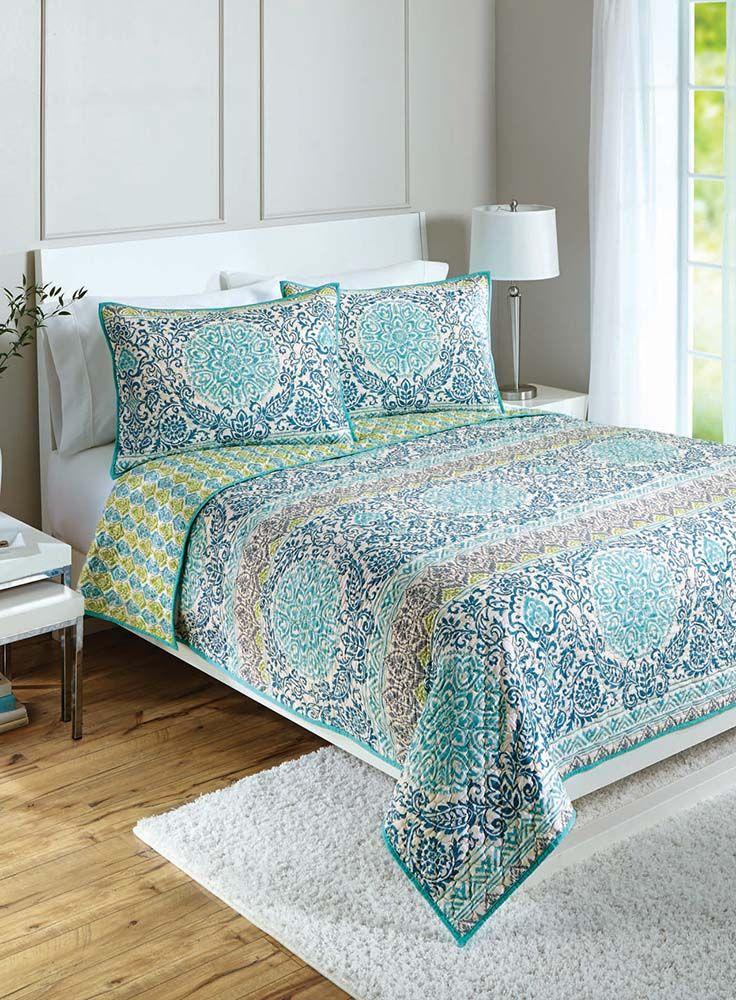 Better Homes And Gardens Layered Medallion Quilt Distressed Bedroom Furniture Bedroom Furniture Sets Bedroom Furniture Design