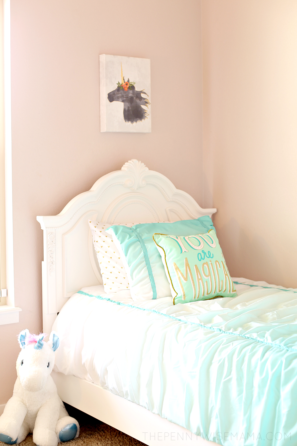 Magical Unicorn Girl Bedroom Ideas Jessica White Twin Bed