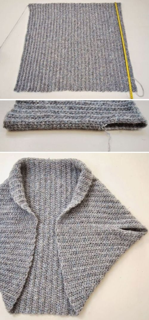 Photo of Folded Rectangle Shrug – Free Knitting Pattern